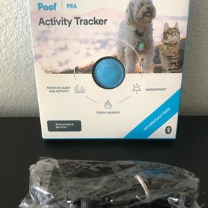 Poof Blue Pet Activity Travker+Collar(S)